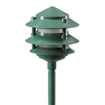 2033-F-GR | Evergreen Three Tier Pagoda Light - 120 volt Green | USALight.com