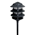 2044-BK | Evergreen Pagoda Light - 120 volt Black