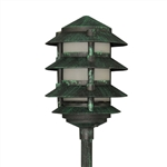 2044-F-VG | Evergreen Pagoda Light - 120v