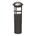 8400-4320-01 | Malibu Low Voltage LED Bollard Light - Aged Iron | USALight.com