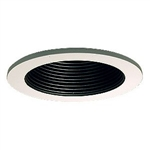 "B1301P-WH | 3"" Ring with Baffle Trim - Regressed 