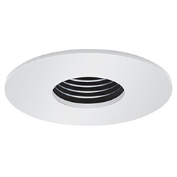 "B1314P-WH | 3"" Pinhole Baffle Trim - Regressed 
