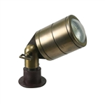 B140-AB | Orbit Outdoor Special Brass Bullet Light - Antique Brass | USALight.com