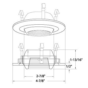 6 Inch Ic Recessed Lighting further US 405S further B1306sn besides Recessed Lighting Wiring in addition B1404SN SN. on commercial electric recessed lighting trim