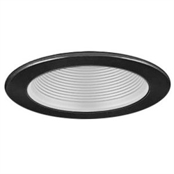 "B401W-BK | 4"" Stepped Baffle Trim - Regressed 