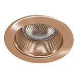 "B530CP-CP | 5"" Air Tight Stepped Baffle Trim - Copper 