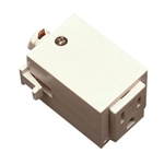 ET-124W | Track Outlet Adaptor - White | USALight.com