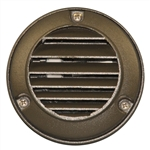 US-120BZ | Maui Round Louvered Step Light - Bronze | USALight.com