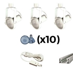 US-241-3W | Trade Show Track Lighting Kit - 3 Piece Gimbal Ring | USALight.com