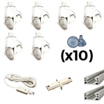 US-241-6W | Trade Show Lighting Kit - 6 Piece Gimble Ring | USALight.com