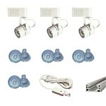 US-258-3W | Trade Show Track Lighting Kit - 3 Piece Low Voltage | USALight.com
