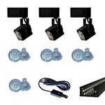 US-263-3B | Trade Show Track Lighting Kit - 3 Piece Mini Square Low Voltage | USALight.com