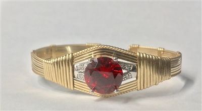 Garnet Colored Cubic Zirconia Bracelet