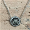 Sterling Silver Cubic Zirconia Monogram Necklace