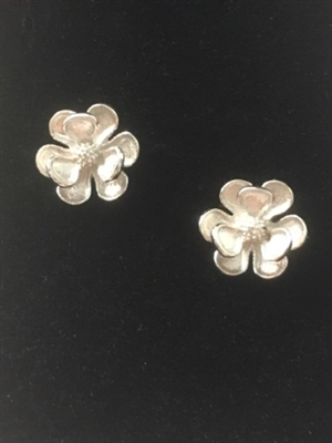 Sterling Silver Magnolia Earrings