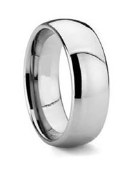 Mens Tungsten Classic Dome Polished Ring