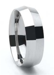 Tungsten Polished Blade Wedding Band