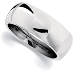 8mm Dura Cobalt Wedding Band Classic Dome