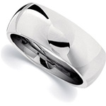 10mm Dura Cobalt Wedding Band Classic Dome