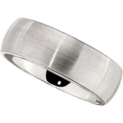 8mm Dura Cobalt Wedding Band Satin Classic Dome