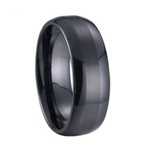 8mm Stripe Ceramic Ring