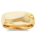 14K Yellow Gold 8mm Domed Band