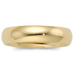 14K Yellow Gold 6mm Domed Band