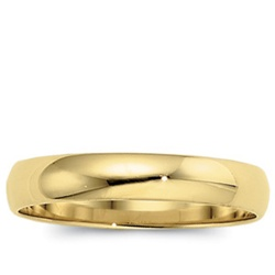 14K Yellow Gold 4mm Domed Band