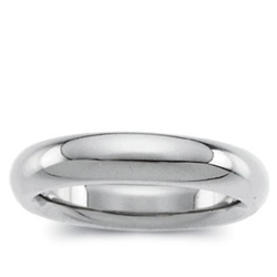 14K White Gold 6mm Band