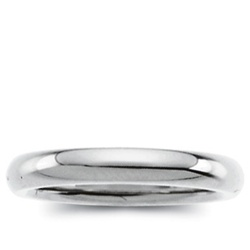 14K White Gold 2mm Domed Band
