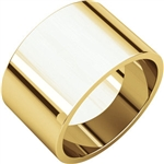 10K Yellow Gold 12mm Flat Band