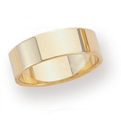 14K Yellow Gold 6mm Flat Band