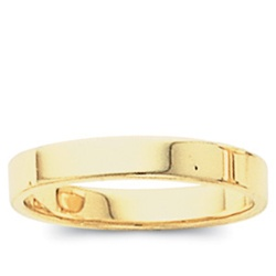 14K Yellow Gold 4mm Flat Band