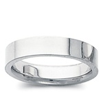 14K White Gold 4mm Flat Band