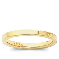 14K Yellow Gold 2mm Flat Band