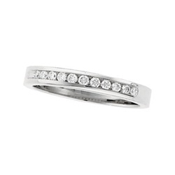 14K White or Yellow Gold 1/4 ct. Diamond Band