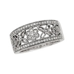 14K White or Yellow Gold 1/2 ct. Diamond Band with 67 Diamonds