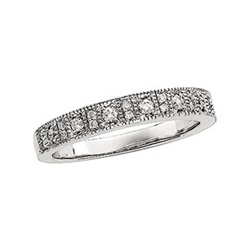 14K White Gold 1/4 ct. Diamond Pave Band with 23 Diamonds