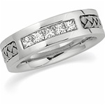 14K Woven White Gold 1/2 ct. Diamond Band