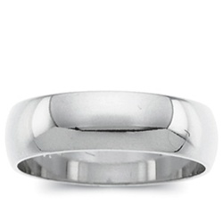 Platinum 6mm Domed Band