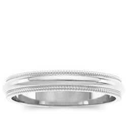 Platinum 4mm Milgrain Band