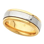 6mm Comfort Fit 18K Yellow Gold and Platinum Band