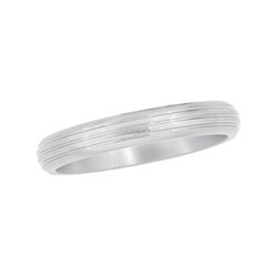4mm Titanium Ring With Grooves