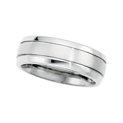 Titanium Ring 8mm With Grooves