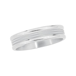 6mm Titanium Comfort Fit Designer Band
