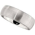 8mm Vitalium Ring, Classic Dome Satin Finish