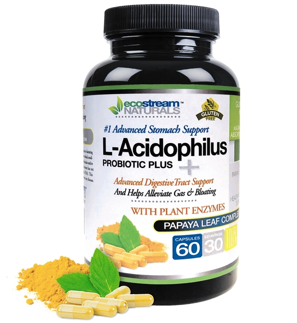 L-Acidophilus Probiotic Plus Advanced Digestive Tract Support - with Digestive Enzymes