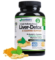 #1 Natural Liver/Detox & Cleanse Daily Purification Formula Support