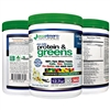 #1 Vital Daily Green Veggie Superfood Protein Powder | Amazing 20 Servings | 50+ Whole Foods | Spirulina, Chlorella, Flax Seed, Red Beet | Probiotics, Fiber & Enzymes | Certified Organic Vegetables All in 1 Super Food!