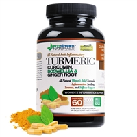 #1 Natural Women's Anti-Inflammatory Formula with Turmeric, Curcumin and added Ginger Root
